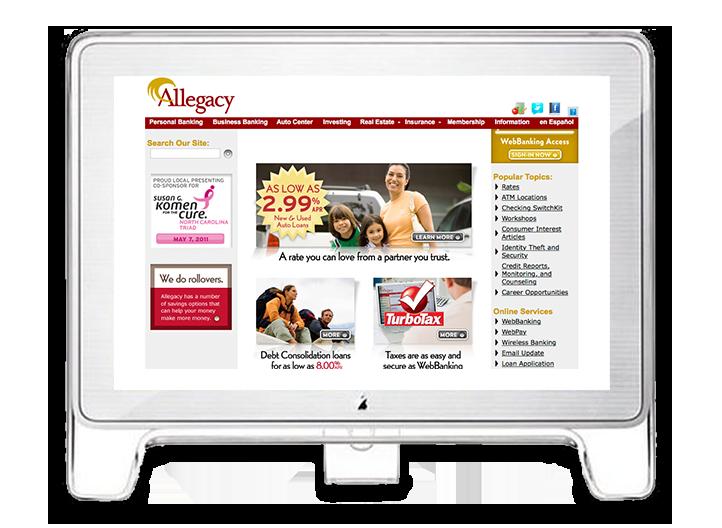 2003 Allegacy Homepage