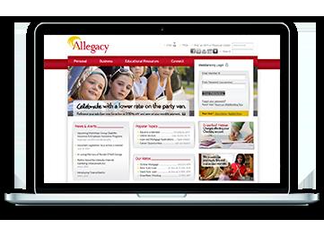 2010 Allegacy Homepage