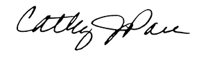 Cathy J. Pace Signature