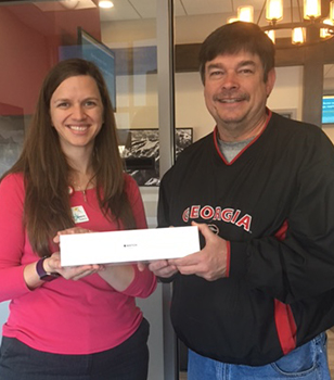 Apple Watch mini prize winner