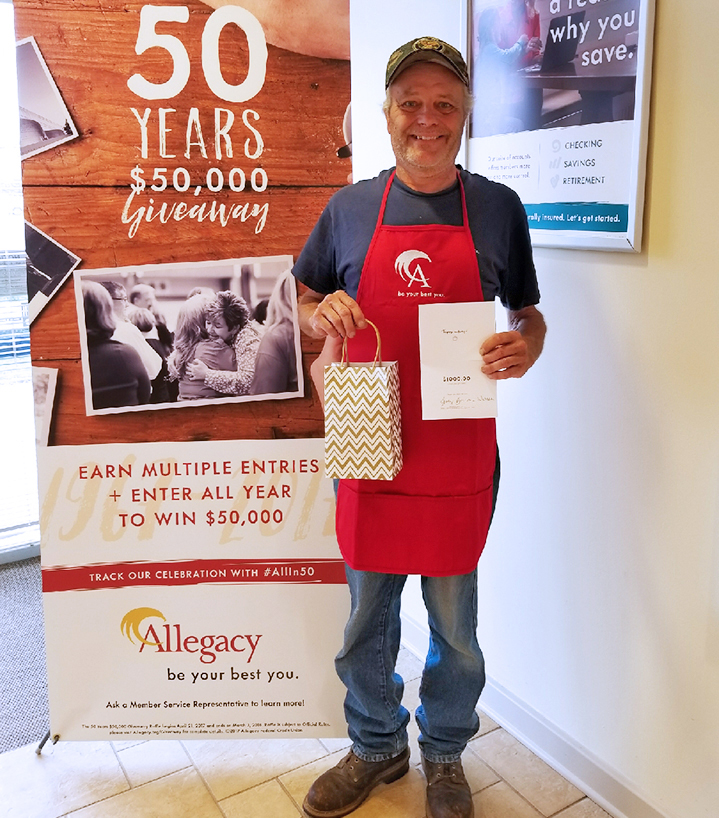 Blue Apron mini prize winner William F.