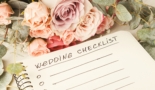 flowers and a wedding checklist