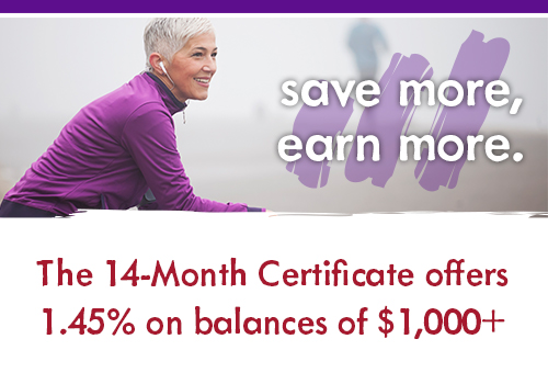 Save more, earn more.