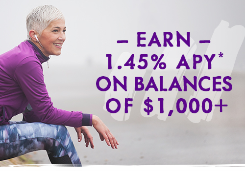 earn 1.45% APY on balances of $1,000+