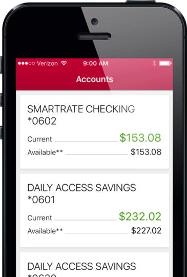 Mobile Banking accounts