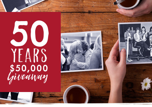 50 Years | $50,000 Giveaway